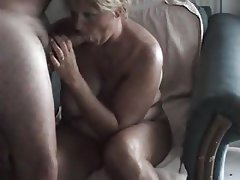 Amateur, Big Boobs, Blonde, Blowjob, Granny