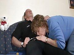 Blowjob, Brunette, Granny, Hardcore, Mature