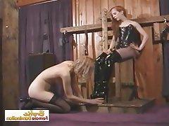BDSM, Bondage, Lesbian, Small Tits, Spanking