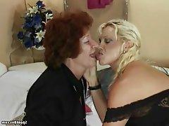 Granny, Hairy, Lesbian, Mature, Saggy Tits