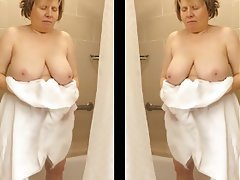 Big Boobs, Big Butts, Mature, Shower, Voyeur