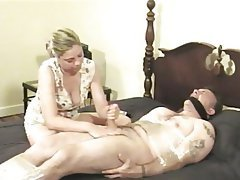 BDSM, Blonde, Blowjob, CFNM, Handjob