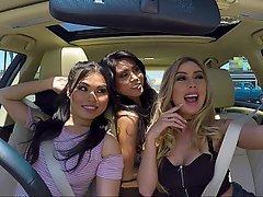 Asian, Car, Bus, Teen