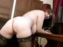 Big Boobs, British, Masturbation, MILF, Stockings
