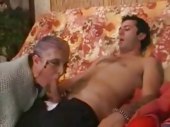 Cumshot, Granny, Hardcore, Old and Young, Stockings