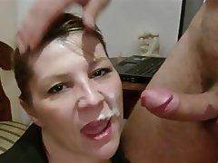 Blowjob, Brunette, Facial, Mature