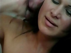Blowjob, Facial, Big Boobs, Brunette