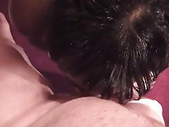 Blowjob, Facial, Threesome, Brunette