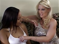 Blowjob, Facial, Blonde, Brunette