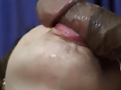Blowjob, Facial, Squirt, Interracial