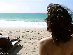 Beach, Brunette, Celebrity, Outdoor